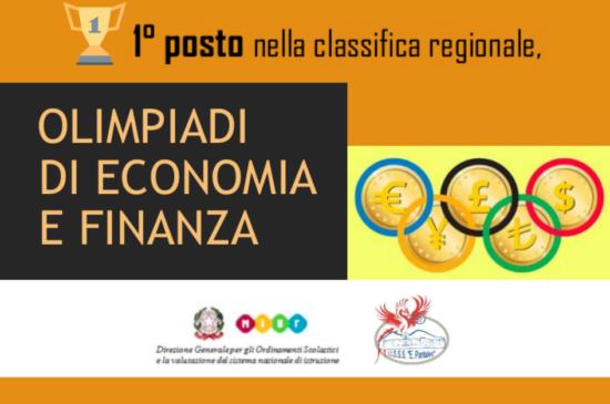 OLIMPIADI DI ECONOMIA E FINANZA – 1° posto nella classifica regionale