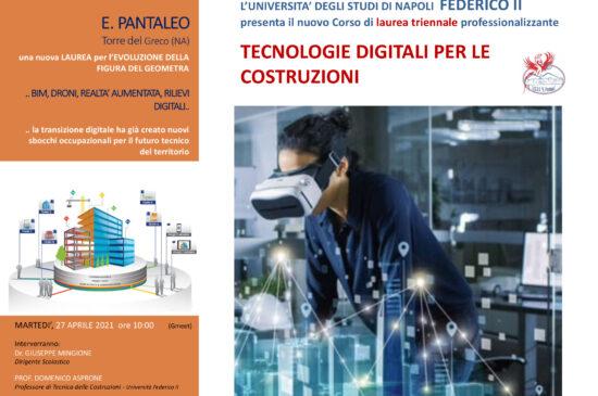 Presentazione Nuovo Corso di Laurea -Tecnologie Digitali per le Costruzioni – 27 Aprile 2021