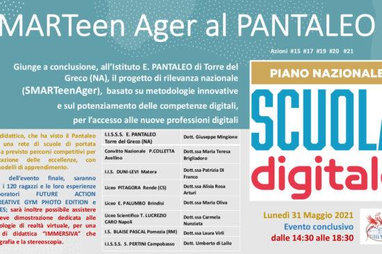 SMARTeenAger al PANTALEO – Evento conclusivo 31 Maggio